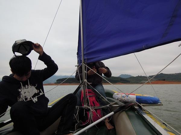 橡皮艇帆船再次试航