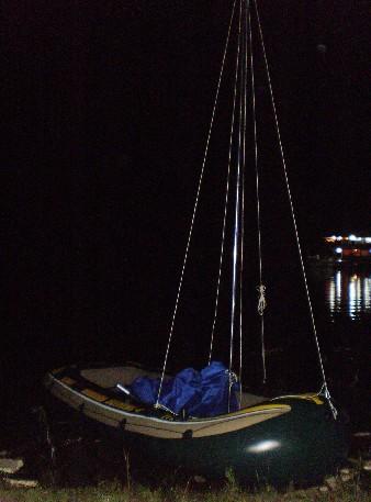 野人部落:橡皮艇改造帆船试航【20110725】