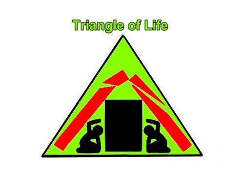 """美国最有经验救援专家传授地震""""生命三角"""""""