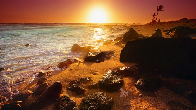 Shoreline-Sunset-Hawaii