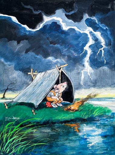 雷雨天气玻杆帐篷和铝杆帐篷防雷效果分析