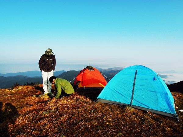 麒麟山露营