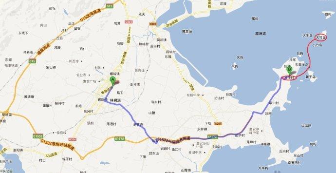 大竹岛地图