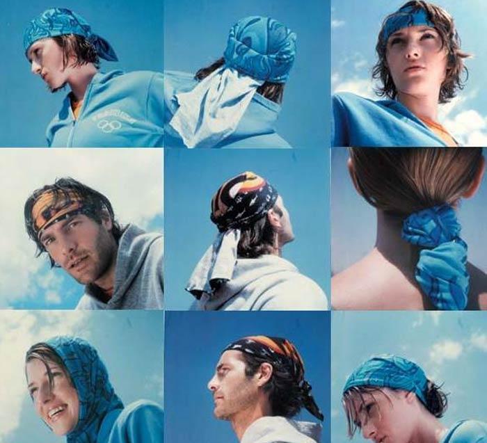 魔术头巾的绑法