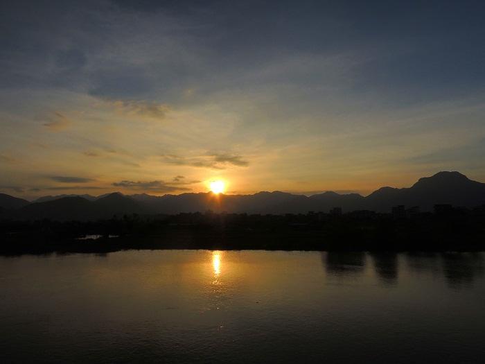 五虎山日落