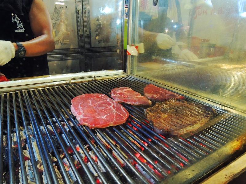 台湾夜市烤牛排
