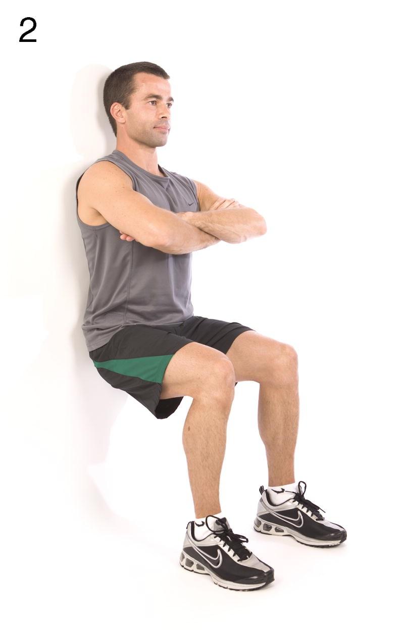 Training 2:坐太空椅 Wall sit