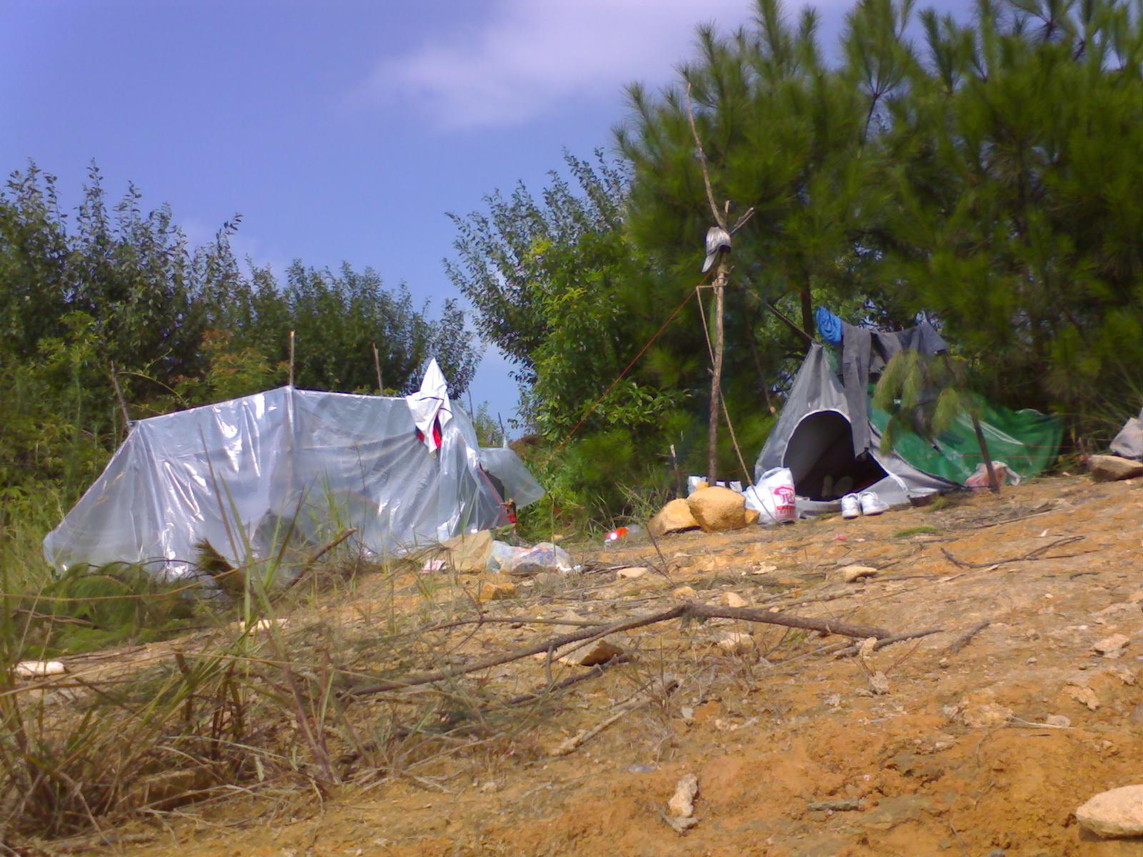 野人部落自制帐篷