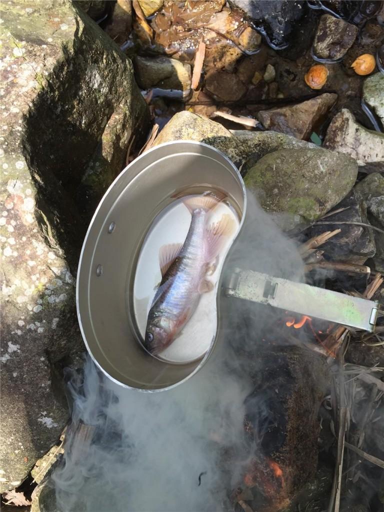 野外求生煮鱼