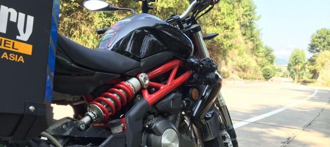 摩托车后减震器工作原理