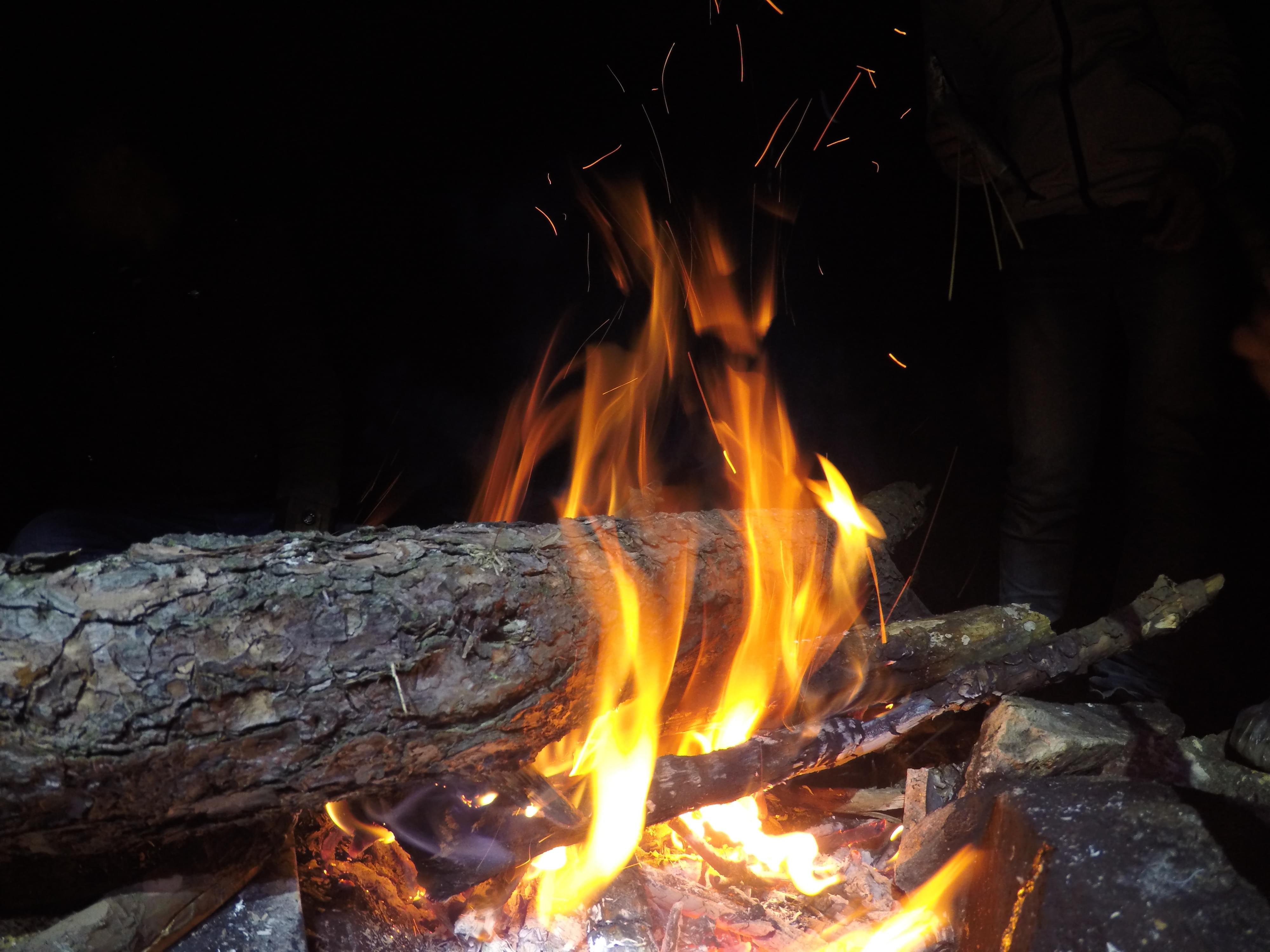 杉洋白溪草场篝火晚会